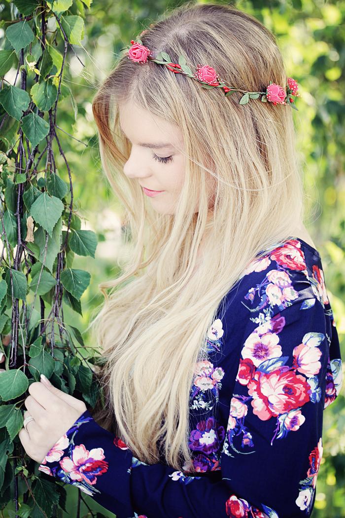 långt hår vit små